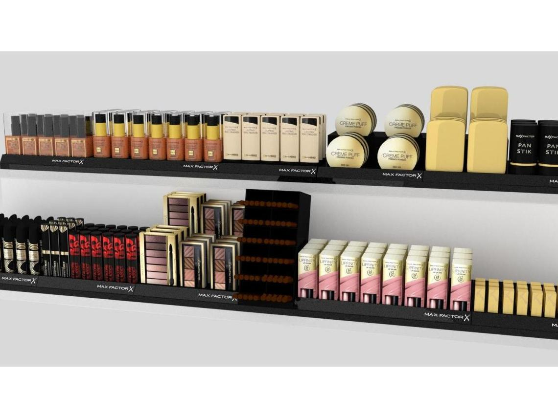 Shelf system for MAX FACTOR