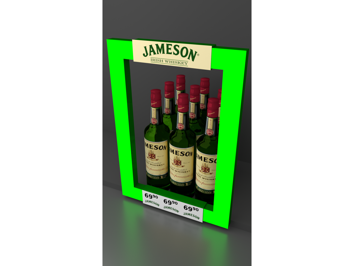 Illuminated frame for Jameson