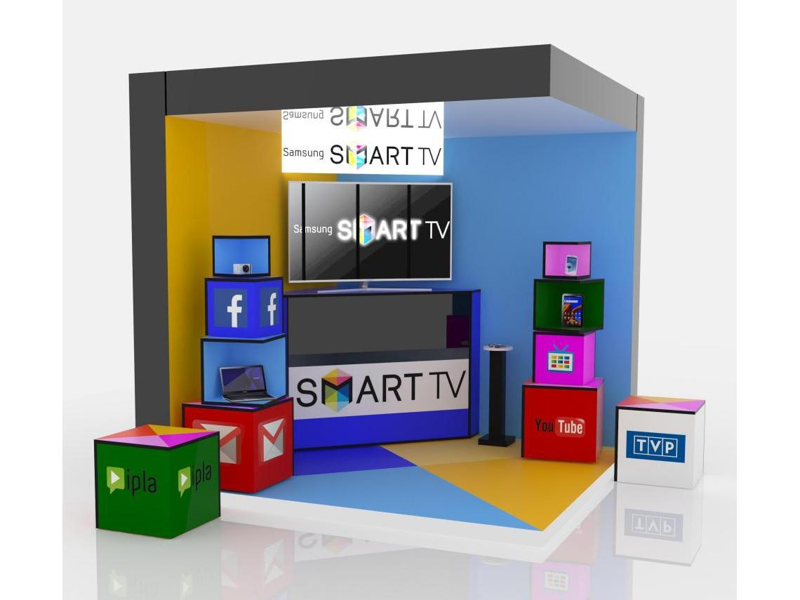 Samsung SMART TV presentation stand