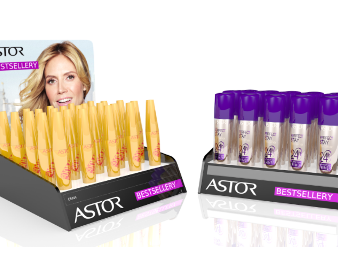 A display for Astor cosmetics