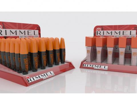 A display for Rimmel cosmetics