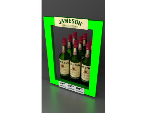 Illuminated frame for Jameson