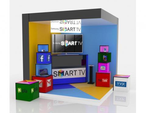 Stoisko prezentacyjne Samsung SMART TV