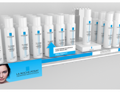 Shelf exhibition by La Roche Posay